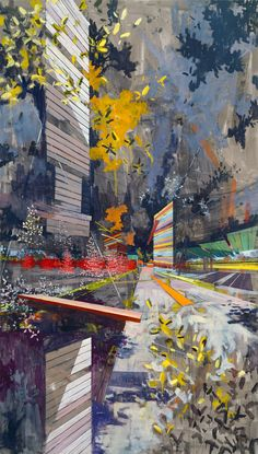 David Schnell I really like the illusion of an urban environment created by brush strokes.