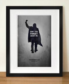 """The Breakfast Club - """"Don't You Forget About Me"""" Digital Art 11x17 Poster Print on Etsy, $13.00"""