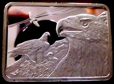Golden Eagle Bar-1 Oz .999 Silver from American Wildlife Collection-ser 0385