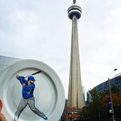 Will we see another bat flip this season? We sure hope so. And so does the @thecrazyplatelady. Who else is excited for tomorrow's home opener? #OurMoment #bluejays #baseball #mlb #Toronto