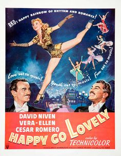 1951 Ad Happy Go Lovely Movie Dance Vera-Ellen David Niven Technicolor RKO Radio