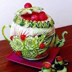 Awesome watermelon carving.