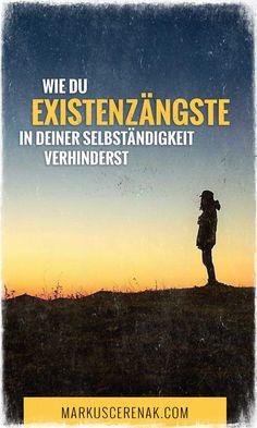 In seinem Gastartikel schreibt Elias Fischer vom Lebeblog, sein Rezept wie du Existenzängste los wirst und mit deiner Berufung durchstartest. Stress Management, Angst, Entrepreneurship, Online Business, Blogging, German, Movie Posters, Inspiration, Female