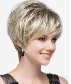 Dressing yourself with our designer short wigs and make you look like stylish and fashion. Short wigs online shopping is your best choice. These short wigs are ideal for looking chic and feeling cool. Hair Cuts For Over 50, Hair Styles For Women Over 50, Short Hair Cuts For Women, Short Hairstyles For Women, Wig Hairstyles, Short Haircuts, Hairstyles 2016, Stacked Hairstyles, Wedding Hairstyles