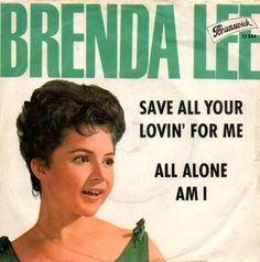 Brenda Lee - All Alone Am I (Picture Sleeve)