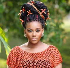 All Beautiful Black Girls: Photo African Dresses For Women, African Attire, African Women, African Beads, African Jewelry, African Necklace, Tribal Jewelry, Black Girls Hairstyles, African Hairstyles