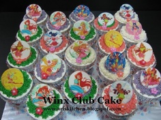 Winx club cupcakes Cupcake Party, Cupcake Cakes, Cupcakes, Club Parties, Birthday Parties, Birthday Ideas, Bbq Party, Summer Bbq, Winx Club