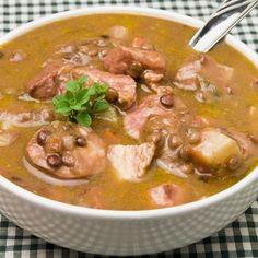 Slow Cooker Portuguese Sausage Lentil Soup