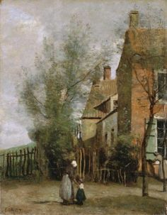 Camille Corot - House in the Village of Saint-Martin, near Boulogne-sur-Mer, 1860-1865