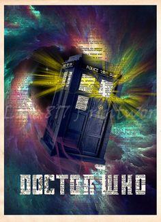 Doctor WHO TARDIS, TARDIS art print, Doctor Who art print, Dictionary print art