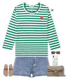 """""""Untitled #4019"""" by stylebyfashionmerger ❤ liked on Polyvore featuring Play Comme des Garçons, Yves Saint Laurent, Gucci and Recover"""