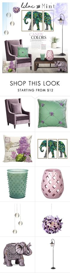 """""""Lilac & Mint"""" by milica1940 ❤ liked on Polyvore featuring interior, interiors, interior design, home, home decor, interior decorating, Simpatico, Boho Boutique, Home Decorators Collection and Allstate Floral"""