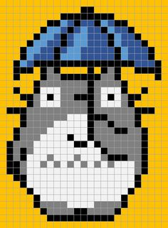 MINECRAFT PIXEL ART – One of the most convenient methods to obtain your imaginative juices flowing in Minecraft is pixel art. Pixel art makes use of various blocks in Minecraft to develop pic… Pixel Art Totoro, Pixel Pattern, Pattern Art, Perler Bead Art, Perler Beads, Cross Stitch Designs, Cross Stitch Patterns, Cowl Patterns, Square Patterns