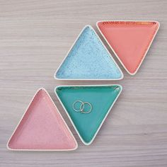 triangle jewellery trinket dish by kate charlton ceramics Ceramic Jewelry, Ceramic Clay, Ceramic Pottery, Clay Jewelry, Jewelry Dish, Jewellery Storage, Diy Clay, Clay Crafts, Pottery Handbuilding