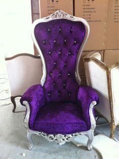 Purple princess chair