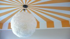 Viva Cindy: Fluffy Chandelier for the Nursery {a how-to}