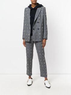 MSGM декорированный классический пиджак в полоску