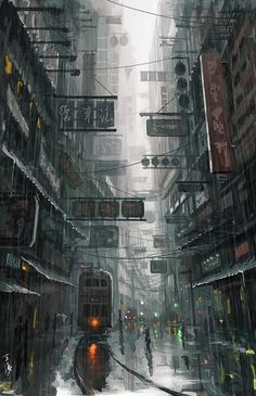Ideas For Illustration Art City Cyberpunk Cyberpunk City, Ville Cyberpunk, Futuristic City, Futuristic Architecture, Hong Kong Architecture, Environment Concept, Environment Design, City Art, Art In The City