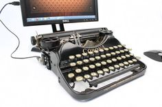 USB Typewriter Computer Keyboard -- Corona no.4 with Nitrocellulose Finish.  By usbtypewriter on Etsy.