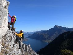 Klettersteig: Drachenwand Klettersteig in Österreich, -Oberösterreich im Gebirge/Berg Salzkammergut-Berge/Drachenwand