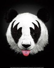Panda Rocks by Robert Farkas -  Fantasy Print Poster