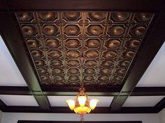 Here is another project to dress up your home, this time the ceiling. Coffered ceiling reminds of the Old-English affluent elegance. It adds character and depth to any room. Coffering is also brilliant to hiding unsightly exposed beams and other ceiling imperfections and to modernise a dated ceiling
