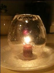 Beautiful Ice Candle Holder Made with a Balloon! — Slop Swap
