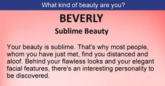 What kind of beauty are you?