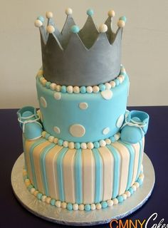 Prince theme baby shower Cake