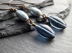 Dark blue earrings £13.50