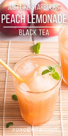 Have you ordered Starbucks peach black tea lemonade? I find it refreshing and tasty and love making my own iced peach tea! Once you know how to make your own homemade Starbucks peach tea, you can rustle up this treat whenever you like. I am such a fan of iced drinks in the summer and always experimenting to made a new summer Starbucks drink recipe! This DIY Starbucks lemonade recipe is one to try! What is your favourite summer drink? #starbucks #copycat #DIY #icedtea #peach #summer Summer Food, Summer Drinks, Cocktail Drinks, Cocktails, Peach Lemonade, Starbucks Drinks, Sugar Free Recipes, Non Alcoholic, Copycat