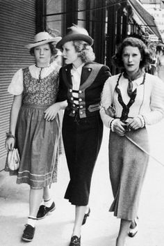 Marlene Dietrich, her daughter Maria Sieber (left) and the longtime companion of her husband, Tamara Matul in Austria, 1935.