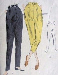50's style pants