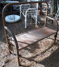 Amazing Antique Iron Bed Made Into Bench For Yard, Garden, Or Patio