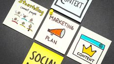 Marketing plan, context, content, storytelling and social media paper notes concept on gray background. Plan Marketing, Social Media Marketing Courses, Marketing Approach, Marketing Articles, Business Marketing, Content Marketing, Online Marketing, Marketing Strategies, Native Advertising