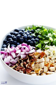 Blueberry Chicken Chopped Salad -- fresh, simple, and SO tasty! | gimmesomeoven.com