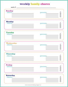 Guest Posting at Jennifer Ford Berry (+ Updated Free Printables) Printable Chore Chart, Free Printables, Organization Ideas, Organizing, Family Chore Charts, Home Management Binder, Free Planner, Love Your Home, Food Journal