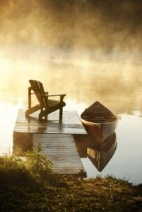 calm in the morning mist