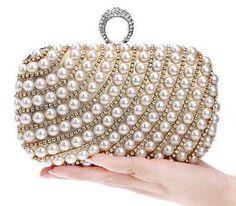 Pearl-Crystal-Evening-bag-Wedding-Bridal-Party-Prom-Clutch-Purse-Wallet-Handbag