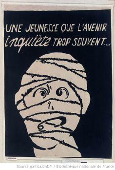 [Mai 1968]. Une jeunesse que l'avenir inquiète trop souvent..., Atelier Beaux-arts : [affiche]