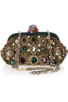 Dolce & Gabbana - Jewel & Pearl-Embellished Clutch