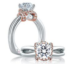 Don't miss the #MoyerJewelers #semimountsale! You can get this stunning #whitegold #engagement ring for 50% off without the center diamond!