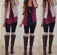 Winter Outfit. Love the colors