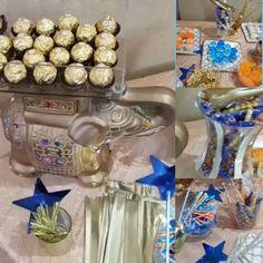 Vibrant colors made this Lohri celebration dessert table come alive!