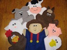 Old Mcdonald- felt Puppets