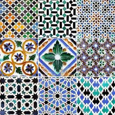 Traditional tile patterns of Andalusia - century) Stock Photo - 20220239