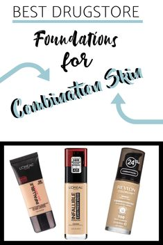 Looking for the next foundation that suits your combination skin? Look no further. Here are the top 3 foundations for combination skin types! Beste Foundation, Best Drugstore Foundation, Foundation Tips, Foundation Application, Makeup Foundation, Combination Skin Care, Best Foundation For Combination Skin, Drugstore Makeup, Makeup Tips