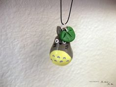 Totoro with Leaf Charm Pendant. $13.00, via Etsy.