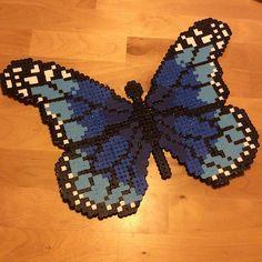 Butterfly hama beads by  michelleparlar
