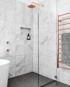 """87 Likes, 6 Comments - All Properties Group (@allpropertiesgroup) on Instagram: """"Love this luxurious marble and copper bathroom """""""